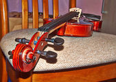 Violin  in home interior. — Stock Photo