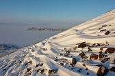 The northernmost Pevek on the shore of the Arctic Ocean. — Stock Photo