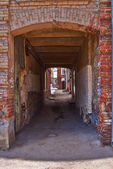 Courtyards of the old  old city         — Foto Stock