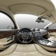 Car interior pano — Stock Photo