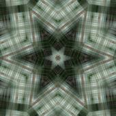 Green and White Mandala Star - coarse textured — Stock Photo