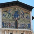 Ascension of Christ the Saviour - mosaic by Berlinghieri on the facade of San Frediano Church in Lucca, Italy. — Stock Photo