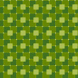Seamless Green Background with Square Pattern — Stock Vector