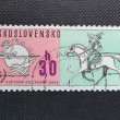 CZECHOSLOVAKIA - CIRCA 1974: A stamp printed in former CZECHOSLOVAKIA commemorates centenary of Universal Postal Union. — Stock Photo