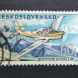 CZECHOSLOVAKIA - CIRCA 1967: A stamp printed in former CZECHOSLOVAKIA shows a sports airplane Letov L-40 Meta-Sokol, circa 1967 — Stock Photo