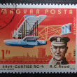 HUNGARY - CIRCA 1978: A stamp printed in HUNGARY shows American aviator Albert C. Read, who made transatlantic flight with his NC-4 flying boat in 1919, circa 1978 — Stock Photo
