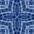 Navy Blue Mandala Quatrefoil — Stock Photo