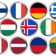 Flags in Round Metal Frame - Europe 2 — ストック写真