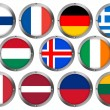 Flags in Round Metal Frame - Europe 2 — Stock Photo