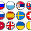 Flags in Round Metal Frame - Europe 4 — Stock Photo