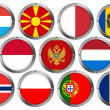 Flags in Round Metal Frame - Europe 3 — Stock Photo