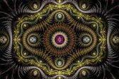 Spiked julian fractal — Stock Photo