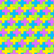 Bright Interlocking Crosses - seamless pattern — Foto Stock #36901221