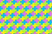 Bright Interlocking Crosses - seamless pattern — Stock Photo