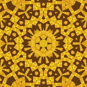 Yellow and Brown Mandala Star — Zdjęcie stockowe