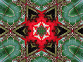 Red and Green Mandala Star — Zdjęcie stockowe