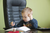 Boy in the office — Stock Photo
