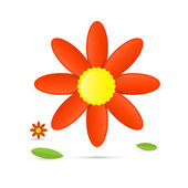 Abstract orange flower isolated on white background — Stock Vector