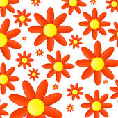 Abstract orange flowers background — Vecteur
