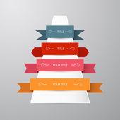 Vector labels, ribbons set — Stock Vector