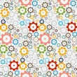 Seamless Pattern Made from Abstract Cogs, Wheels  — Stock Vector