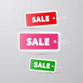 多彩销售标签,标签的字符串 — 图库矢量图片