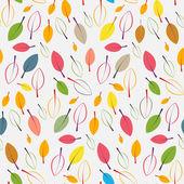 Autumn retro leaves seamless background, pattern — Stockvektor