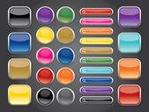 радуга блестящие кнопки — Cтоковый вектор
