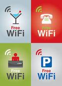 Public Free Wi-fi in Hotel service — Stock Vector