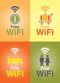 Public Free Wi-fi in Hotel — Cтоковый вектор