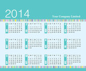 2014 calendar add your company name — Stock Vector