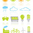 Nature and environment icon set  — Stock Vector