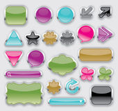 Sliver shiny buttons — Stock Vector