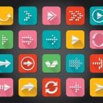 Arrow app icon — Stock Vector #34750181