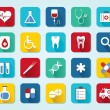 Set medical 3D icons — Stock Vector #34750463
