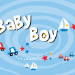 Baby boy pattern paper — Stockvektor