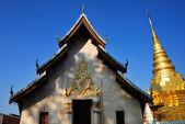 Temple with Pagoda — 图库照片