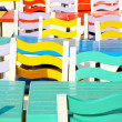 Multi colored chairs — Stock Photo