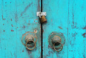 An old house door lock — Stock Photo