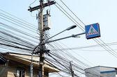 Linhas de transmissão elétrica — Fotografia Stock