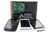 Hardisk & Mobile smart-phone — Stock Photo