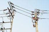 Electrical transmission lines — Foto Stock