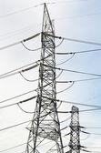 Linhas de transmissão de energia — Fotografia Stock
