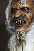 Satanic wooden mask of the companion St. Nicholas in Austria — Stock Photo