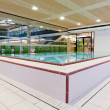 Fordable pool for rehabilitation and other medical lessons — Stock Photo