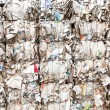 Pressed boxes made of paperboard prepared for recycling — Stock Photo