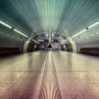 Stock Photo: Symmetric underground station hall