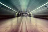 Symmetric underground station hall — Stock Photo