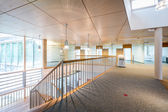 Bright wooden lobby hall of modern office building — Stok fotoğraf
