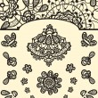 Set of vector  vintage lace elements — Stock Vector